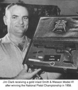 jim clark founder with gold smith & wesson model 41